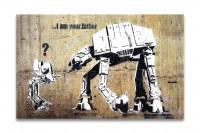 Banksy Kunstdruck -  Leinwand mit Keilrahmen  - I am your father