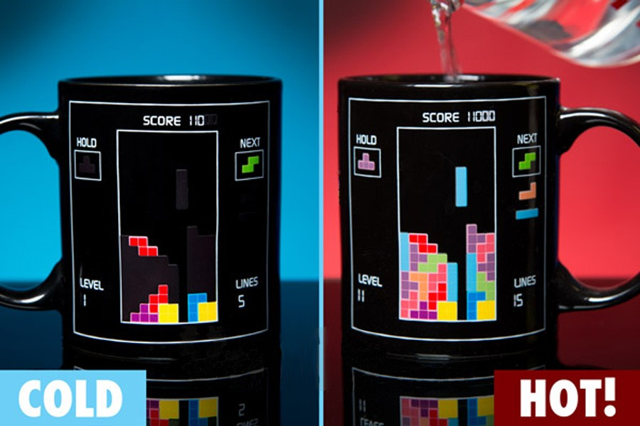 Tetris Tasse mit Thermoeffekt Kaffeetasse
