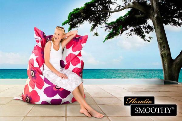 Smoothy Sitzsack Floralia in Pink-Lila