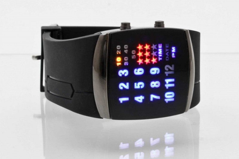 Binäre LED Armbanduhr Binary Uhr Binäruhr