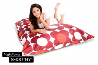 Smoothy Sitzsack Nightflower in Rot-Rot