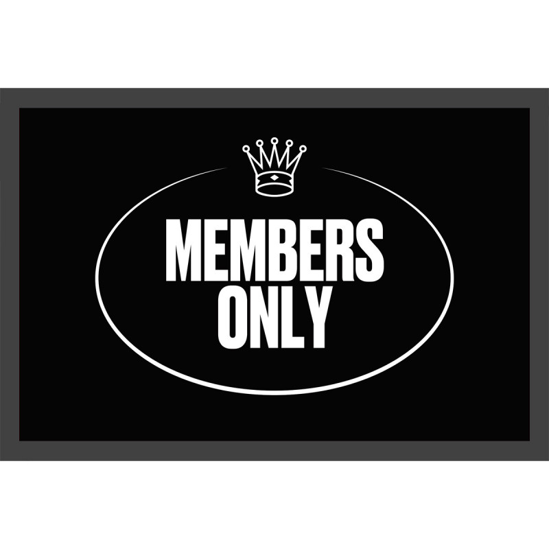 Türmatte members only VIP Fussmatte