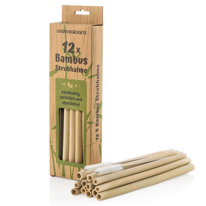 Bambus Strohhalme Set