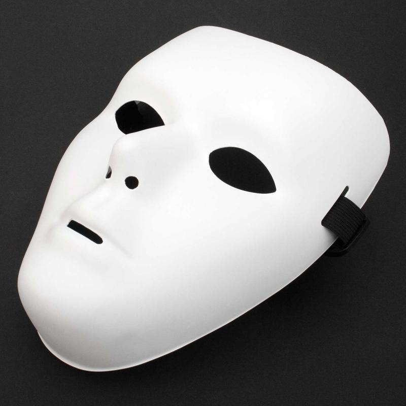 anonyme weiße Maske maskulin