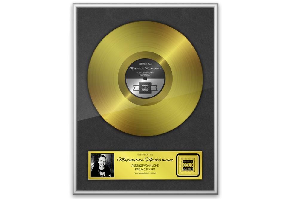 Goldene Schallplatte Personalisiertes Bild Die Geschenkidee