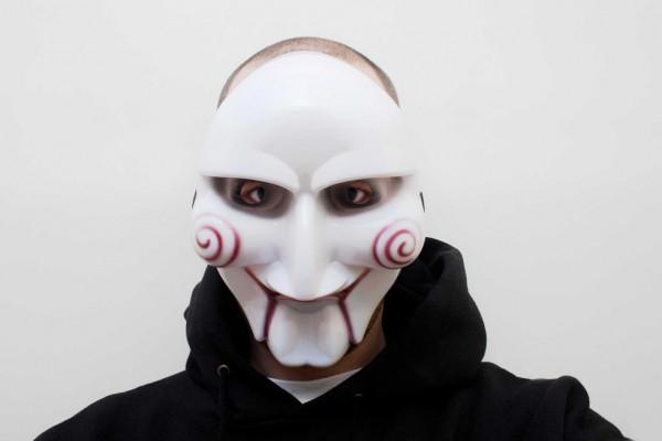 Horror Maske - Jig Saw Killermaske für Halloween - Geheimshop.de
