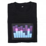 LED Equalizer T-Shirt Violettes EQ Shirt
