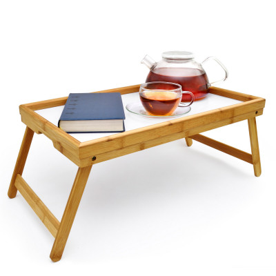 Betttablett aus Bambus Serviertablett Frühstückstablett fürs Bett