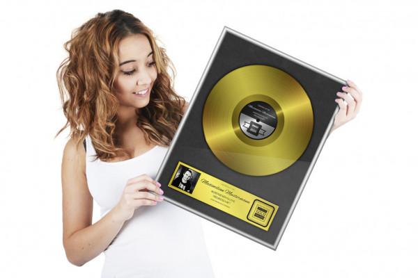 Goldene Schallplatte - Personalisiertes Bild » Die Geschenkidee