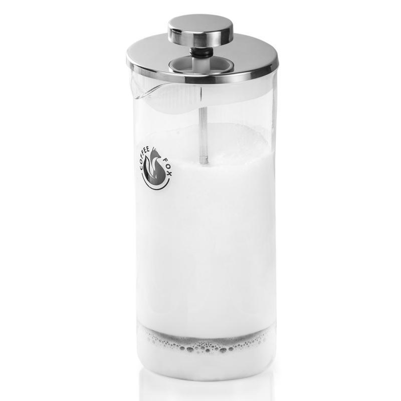 Milchaufschäumer aus Glas