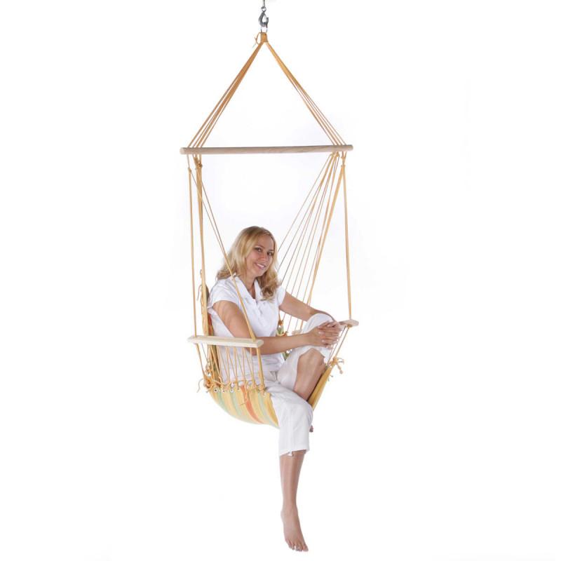 Hängesessel - Schwebesessel aus Baumwolle - Leinen Hängestuhl