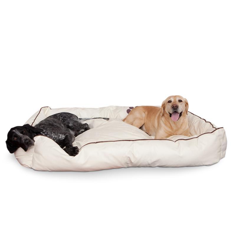 Smoothy Hundebett Leder Beige