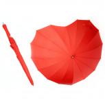 Regenschirm - Roter Stockschirm in Herzform - Geheimshop.de