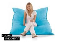Smoothy Sitzsack Cotton Samt in Hell-Blau