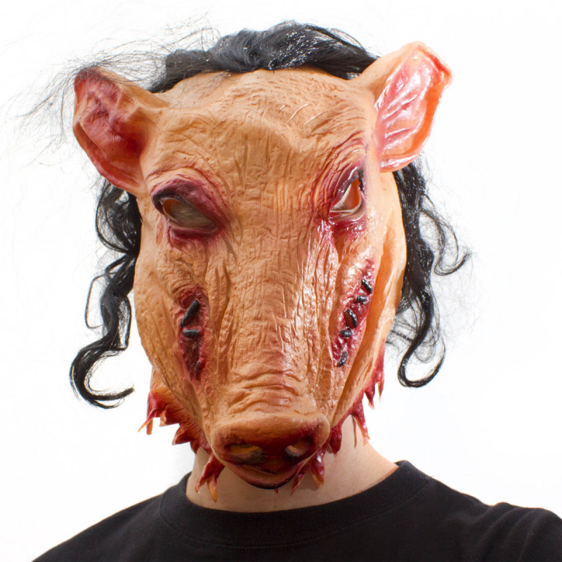 Pig Saw Jigsaw Fan Maske