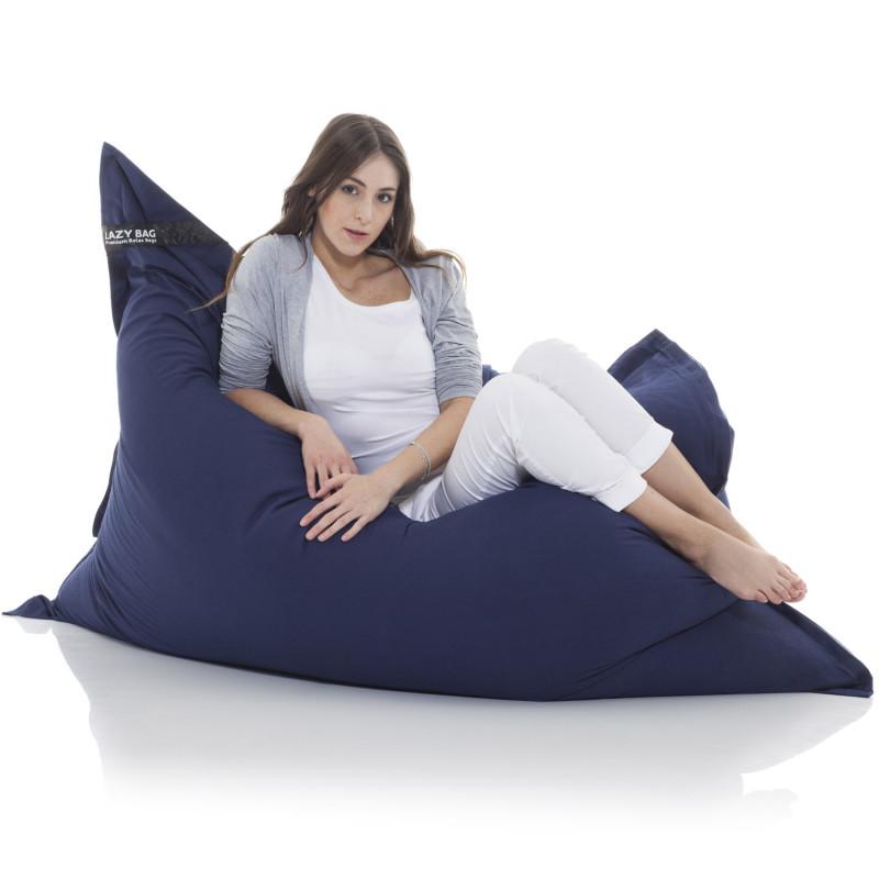 Sitzsack aus Baumwolle in Blau