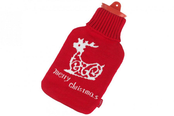 Snoozy Wärmflasche 2 Liter mit Merry Christmas Bezug