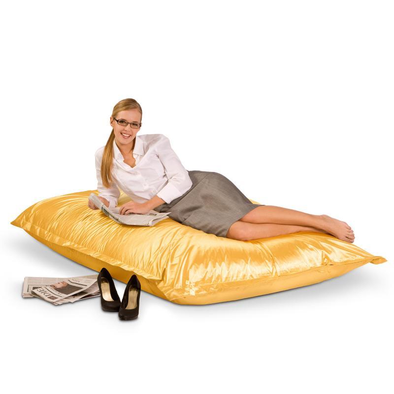 Smoothy Sitzsack - Sitzkissen Metallic - Weißgold