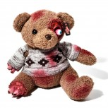 Horror Teddy - Zombie Teddybär aus Plüsch - Braun