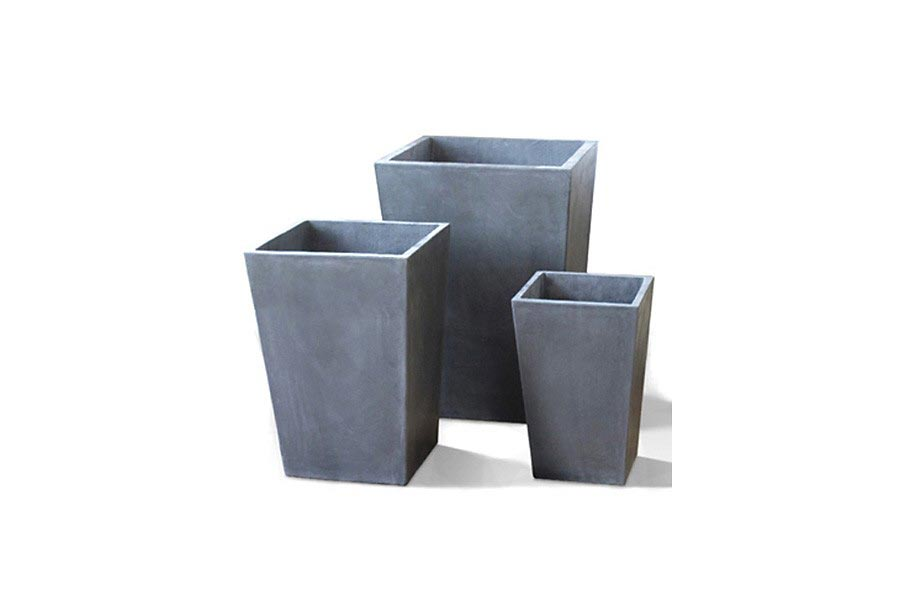 fiberglas blumentopf konisch steingut 44x44x60 cm. Black Bedroom Furniture Sets. Home Design Ideas