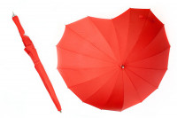 Herz Regenschirm in Rot Stockschirm