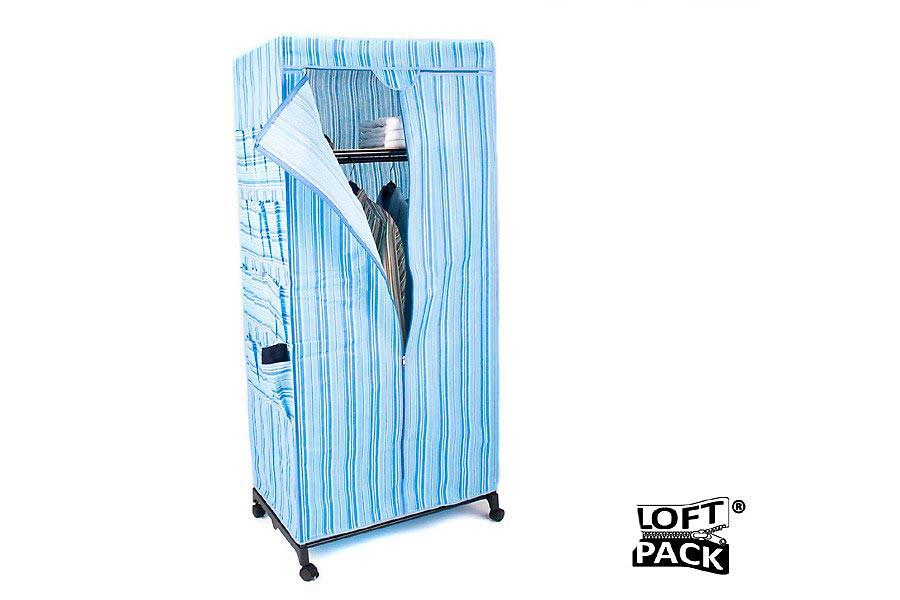 Faltbarer Kleiderschrank Stoff LoftPack ® in XXL Faltschrank