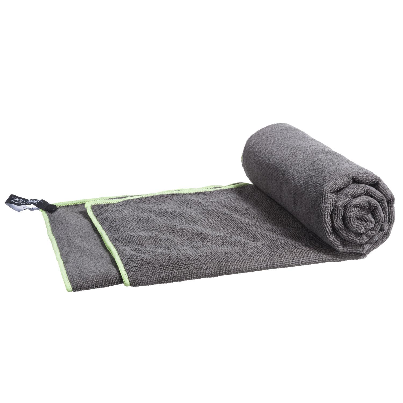 mikrofaser handtuch reisehandtuch grau 80x40 cm. Black Bedroom Furniture Sets. Home Design Ideas