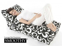 Smoothy Sitzsack Lounge Daybed Black & White
