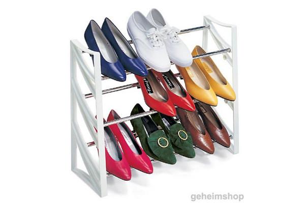 Schuhregal: platzsparend für 9 Paar Schuhe