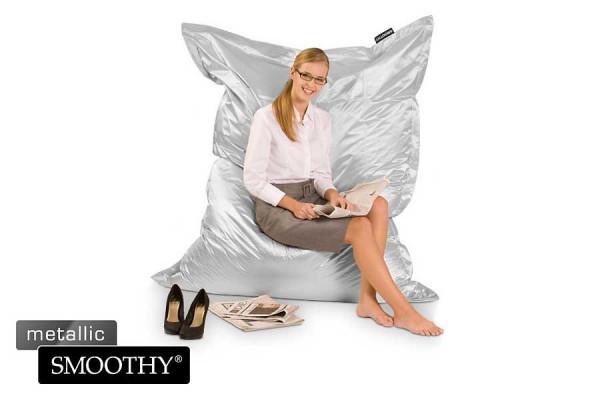 Smoothy Sitzsack - Sitzkissen Metallic - Silber