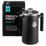 Schwarze French Press Kaffeekanne - Pressfilterkanne von Coffee Fox
