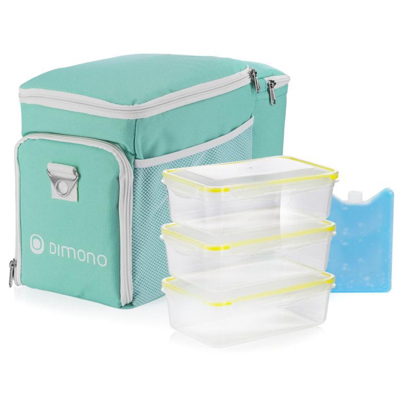 Kühltasche mit Frischhaltedosen und Kühlakku