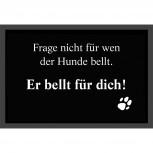 Fußmatte - bedruckter Fußabtreter - bellender Hund