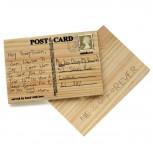 Holzpostkarte - Carve Your Own Postkarte aus Holz - Geheimshop.de