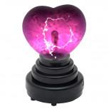 LED Plasmalampe - Plasmakugel in Herz-Form  - Geheimshop.de