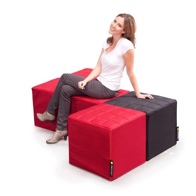 Cube Sitzwürfel Rot