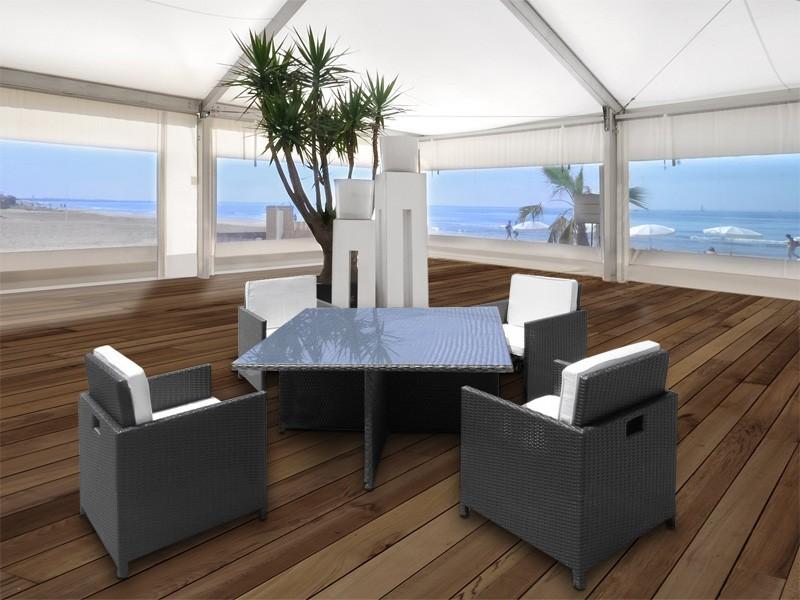 rattan sitzgruppe sitzgarnitur klappbar und platzsparend. Black Bedroom Furniture Sets. Home Design Ideas
