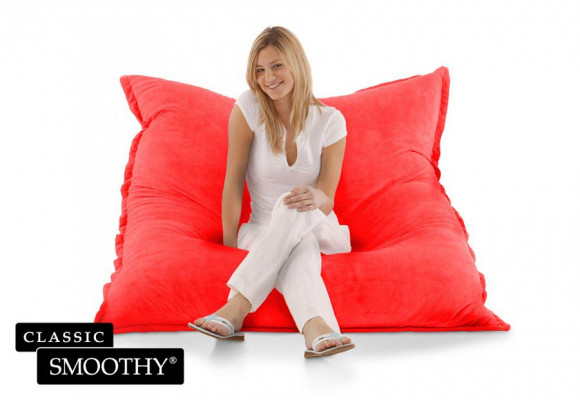 Smoothy Sitzsack Cotton Samt in Rot