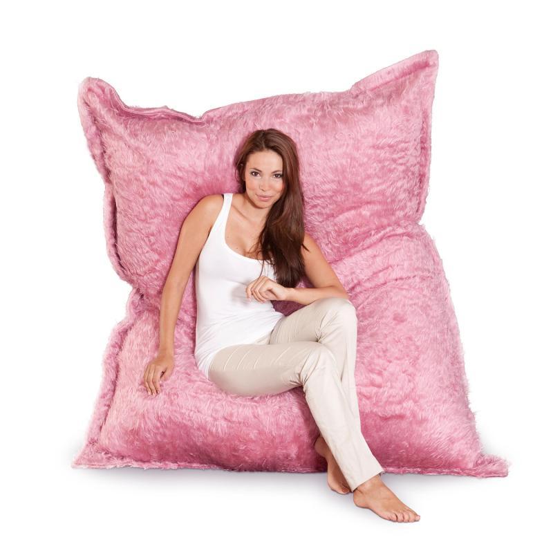 Flokati pink Sitzsack