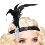20er Jahre Charleston Kopfband Burlesque mit Feder
