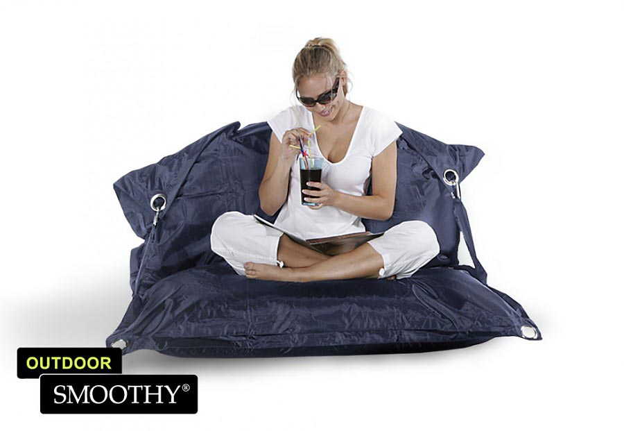 smoothy sitzsack outdoor supreme in mitternachts blau. Black Bedroom Furniture Sets. Home Design Ideas