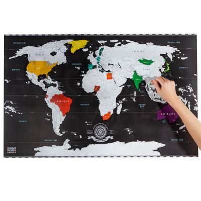 Rubbel Weltkarte - Scratch Map Weltkarte zum Rubbeln