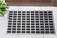 Fußmatte: Edelstahl Optik Aluminium Fußabstreifer
