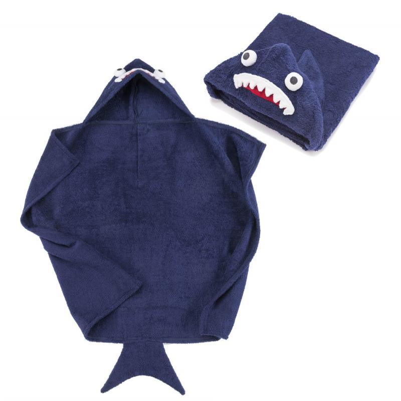 Haifisch Bademantel für Kinder Ökotex 100