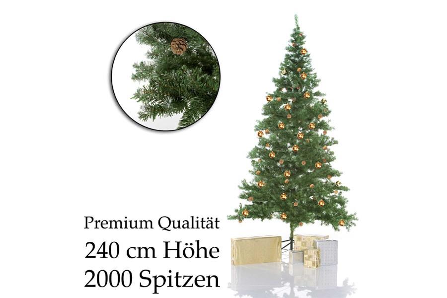 k nstlicher weihnachtsbaum mit st nder 2 40m g nstig kaufen. Black Bedroom Furniture Sets. Home Design Ideas