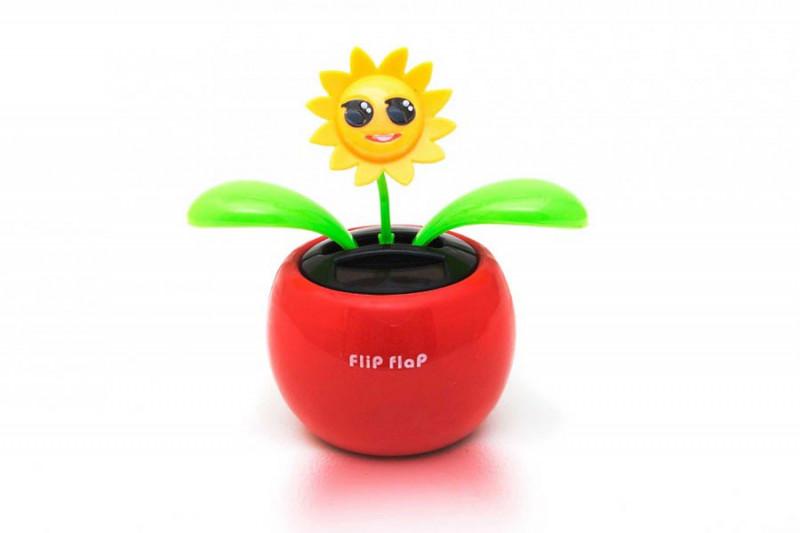 Flip Flap Solar Blume in Rot