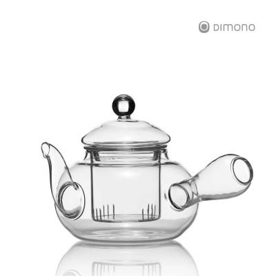 Kyusu Einhandkanne - Teekanne mit Seitengriff aus Glas