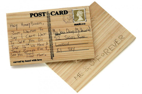 Holz Postkarte Carve Your Own