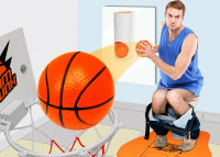 WC Basketball  - Mini Toiletten Basketball-Set - Geheimshop.de