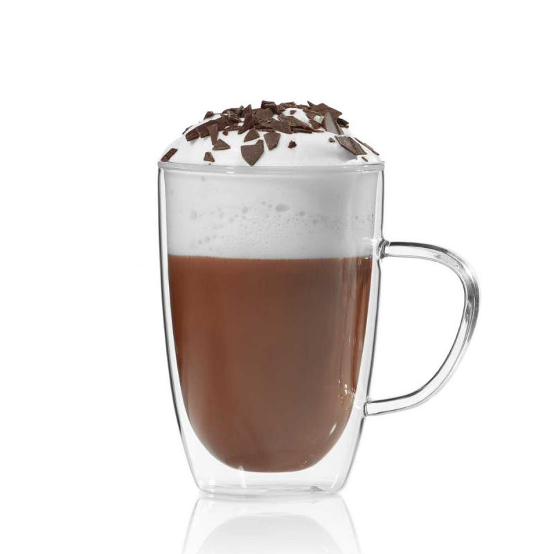 Doppelwandige Kaffeetasse aus Glas